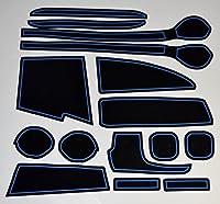KINMEI(キンメイ) スズキ スペーシア Spacia 青 MK32S/42S型 車種専用設計 インテリア ドアポケットマット ドリンクホルダー 滑り止め ノンスリップ 収納スペース保護 ゴムマット 新車 SUZUKIciab