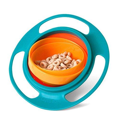 : 360 Rotation Gyro Bowl – anti-renversement propre Bol rotatif pour nourrir bébé sans