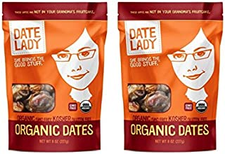 Date Lady Organic Barhi Dates | Vegan, Paleo, Gluten-free & Kosher (2 Bags)