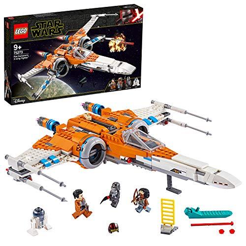 LEGO - Star Wars X-wing Episodio IX con 3 Minifigure Droide R2-D2, Poe Dameron, il Cavaliere di Ren e Jannah, Set di Costruzioni e Idea Regalo per Ragazzi +9 Anni e per i Collezionisti, 75273