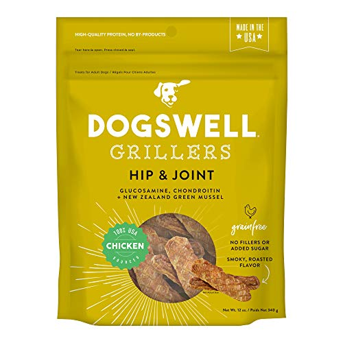 Dogswell Grain-Free Hip and Joint Chicken Grillers for Dogs, 12 Oz, Model: 842185