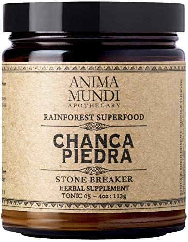 Anima Mundi Chanca Piedra Powder - Pure Wildcrafted Amazonian Superfood Herb Extract, Liver Detox, Gallbladder & Kidney Support (4oz / 114g)