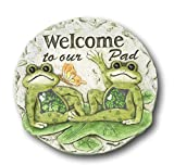 Spring Frogs on Lily Pads Garden Stepping Stone (Welcome to Our Pad)