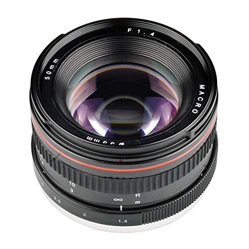 KoojawindProfessionelle 50 MM F1.4 Manueller Fokus Porträtobjektiv Kameraobjektiv Für Canon SLR, Neue Digitale Hochleistungskameraobjektiv Für Canon/Nikon/Sony/Minolta
