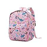 Cute Toddler Backpack for Boys Girls,Preschool Nursery Diaper Travel Bag (Pink Dinosaur)
