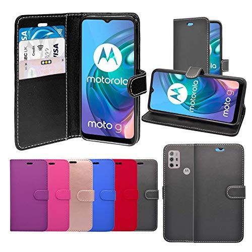 Unbranded Case Funda para Motorola G10 Libro Cartera Soporte Cuero De PU Tarjeta Ranura Funda Teléfono Compatible con Funda - Oro Color De Rosa