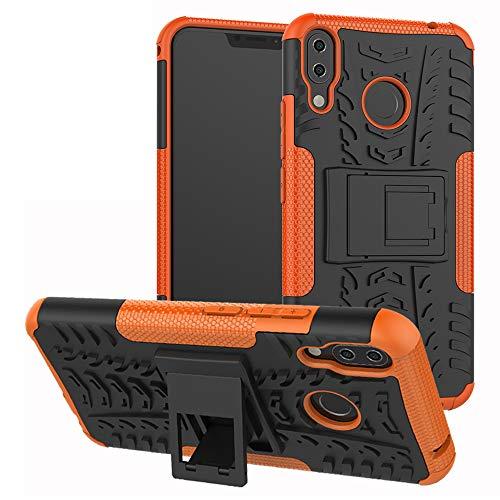 Labanema Zenfone 5Z ZS620KL Hülle, Abdeckung Cover schutzhülle Tough Strong Rugged Shock Proof Heavy Duty Hülle Für Asus Zenfone 5Z ZS620KL (6.2 Zoll)-Orange