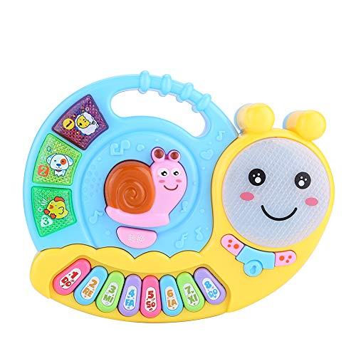 Atyhao Baby Sound Spielzeug, niedliche Schneckenform Musical Piano Auditory Tactile Development Toy für Kleinkinder 18+ Monate (Batterie Nicht enthalten)(Blau)