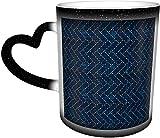 Sashiko Higaki Cypress Fence Taza sensible al calor que cambia de color en el cielo Tazas de café Taza de cerámica Regalos personalizados para amantes de la familia Amigos