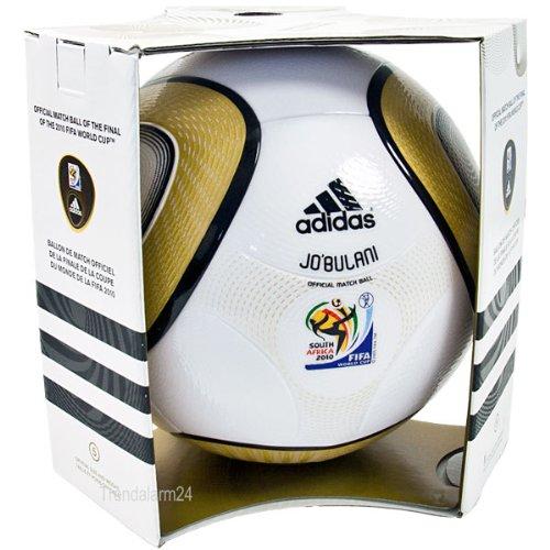 Adidas - Pallone da calcio Coppa del Mondo Africa del Sud 2010, replica ufficiale Finale, colore: Bianco/Oro metallizzato