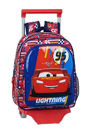 safta 612011020 Mochila pequeña Ruedas, Carro, Trolley Cars, Multicolor