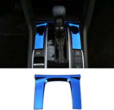 CKE Civic Stainless Steel Gear Panel Trim Automatic Transmission Shift Box Cover for 10th Gen Honda Civic 2020 2019 2018 2017 2016-Blue