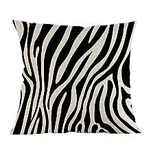 Broadroot Funda de cojín Funda de Almohada Cintura Cojín Zebra Raya Imprimir Decoración para el hogar (Raya de Cebra)