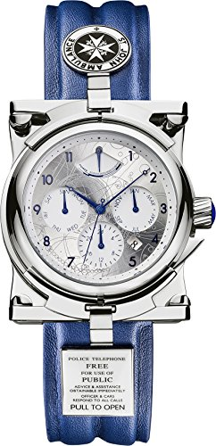 Dr Who Herren Chronograph Mechanik Uhr mit Leder Armband DR304