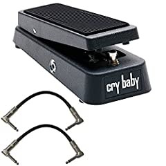 Save with this bundle. Package includes: Dunlop Crybaby GCB-95 Classic Wah Pedal w/2 FREE Patch Cables 100k ohm Hot Potz potentiometer that allows for a quick, abrupt wah sound Powered by the Dunlop ECB-03 AC Adapter and/or 9 volt battery Dunlop Cryb...
