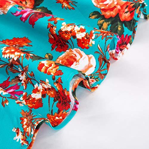 Damen rockabilly kleid 50er jahre kleid festliche kleider vintage knielang partykleider Größe M CL6086-4 - 6
