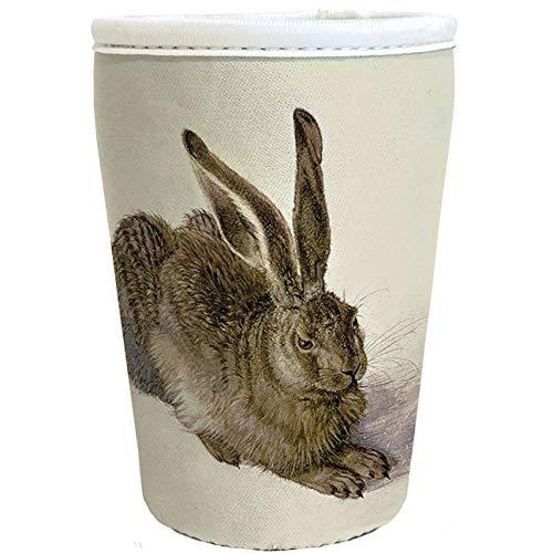 Rannenberg & Friends Neopren Cup Cover für Coffee to go Becher zum selber gestalten - Thema Tiere (RCC019 Junger Feldhase)