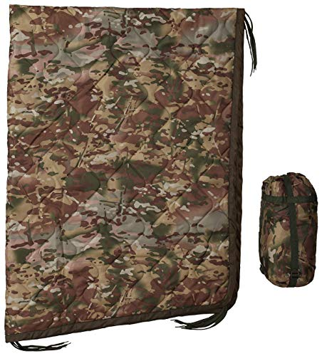 USGI Industries Military Woobie Blanket - Thermal Insulated Camping Blanket, Poncho Liner – Large, Portable, Water-Resistant, for Hiking, Outdoor, Survival, Comes with Compression Carry Bag (OCP)