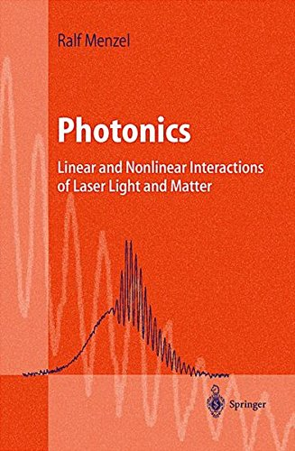 Download Photonics: Linear and Nonlinear Interactions of Laser Light and Matter (Advanced Texts in Physics) 3540670742