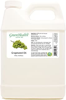 GreenHealth Grapeseed – 32 fl oz (946 ml) Plastic Jug w/Cap – 100% Pure Carrier Oil