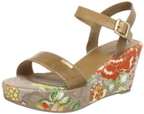 ESPRIT Flo Flower Sandal Q10378, Damen Sandalen, Braun (toffee brown 232), EU 38