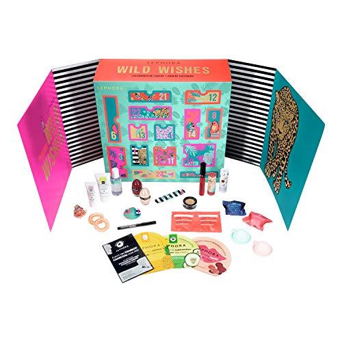 Nouveauté Exclusive ! Sephora Calendrier De L'Avent Wild Wishes 24 Surprises Beauté, Valeur 150€, Calendrier Cosmétique pour Femme et Homme