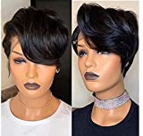 BLISSHAIR Short Bob Pixie Cut Wig Lace Front Curly Human Hair Wigs for Black Women 100% Brazilian Hair Side Part Wigs with Baby Hair