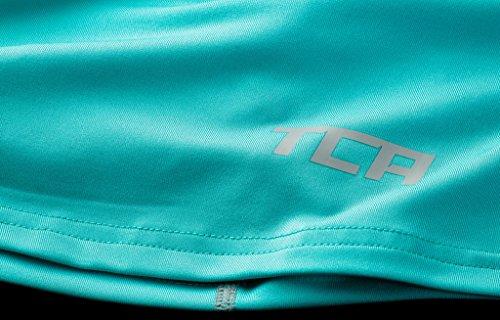 TCA Superthermal Quickdry Damen Laufshirt/Funktionsshirt mit Rundhalsausschnitt – Hellblau, XL - 3