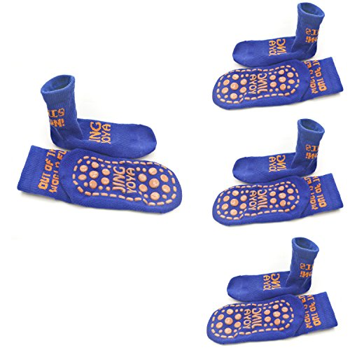 TUKA Calcetines Antideslizantes para niños niñas, Unisex ABS Calcetines con botones. para yoga, Danza, trampolín, Fitness, hogar. TKB7001