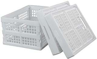 Hokky Boîtes Pliantes pour Le Stockage, Lot de 3 Caisse Pliable Blanches en Plastique