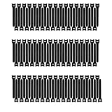 Pasow 100pcs 6-Inch Reusable Fastening Cable Ties Adjustable Wire Management (Black)