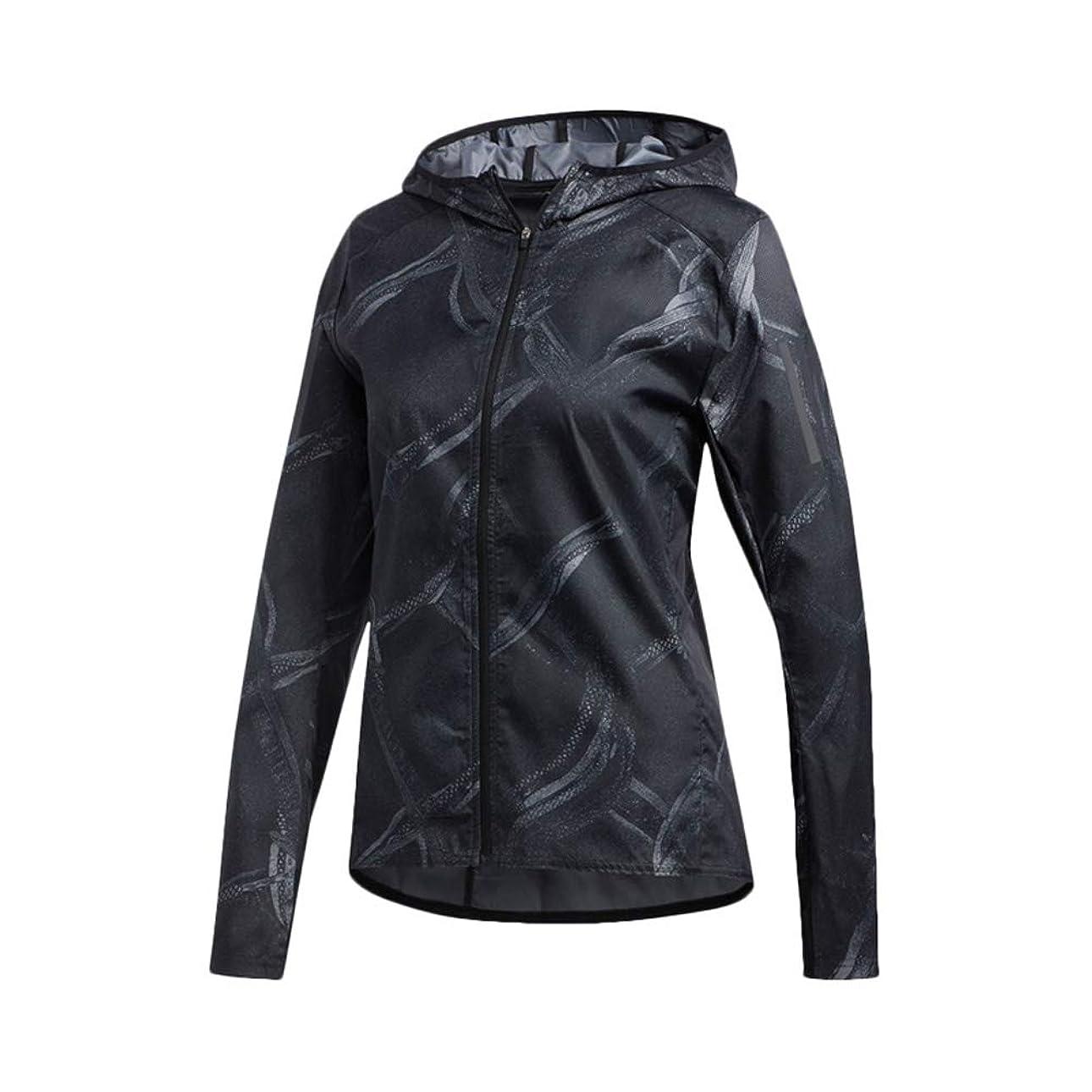 邪魔換気する一般化するウインドジャケット レディース 上 adidas フード付き ランニング ラン ジョギング