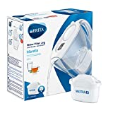 BRITA S0590 Marella Fridge water filter jug for reduction of chlorine, limescale and impuities, White, 2.4L