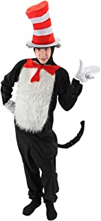 Elope Dr. Seuss Cat in the Hat Kids' Costume Jumpsuit with Hat