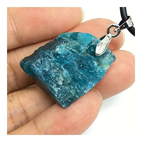GOSOU Piedra de Tratamiento Apatito Natural Piedra de Piedras Preciosas crudas Colgantes de Piedra Semi-Preciosas Collares de joyería