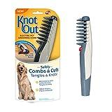 Roote - Peine eléctrico para mascotas con nudo para quitar nudos y enredos, apto para perros, caballos, gatos y otros animales.