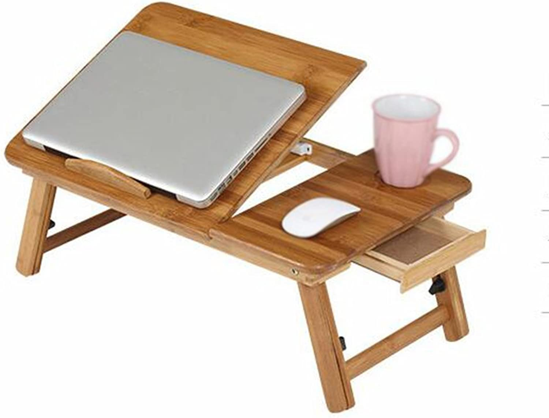 TY BEI Computer Desk - Multi-Function Adjustable Computer Desk Folding Bed Desk Simple Student Writing Desk 3 (Size   L50W30)