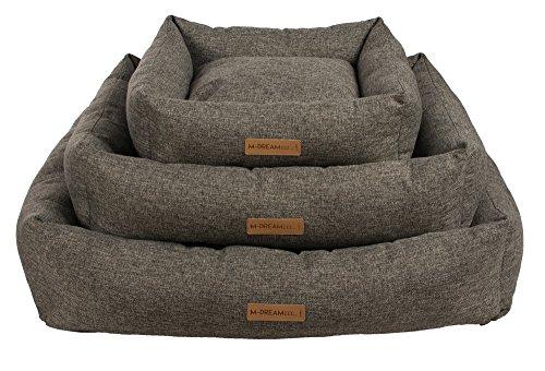 M-Pets 10301099 Oleron Cushion Hundebett Größe M, Anthrazit