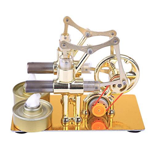 MAJOZ Stirlingmotor mit Generator Sterling Engine Kit Stirling Motor Pädagogisches Spielzeug Geburtstagsgeschenk Kinder und Technikbegeisterte