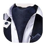 Gemelli da uomo con cravatta e cravatta in tessuto jacquard DiBanGu stile casual