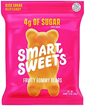 12-Pack SmartSweets Fruity Gummy Bears Candy with Low Sugar
