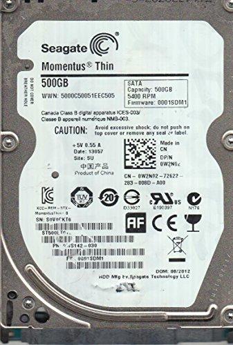 Seagate St500Lt012, S0V, So, Pn 9Ws142-030, Fw 0001Sdm1, 500GB Sata 2.5 Hard Drive