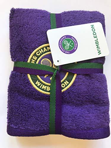 Wimbledon Herren Gäste Handtuch violett Bestickt Emblem