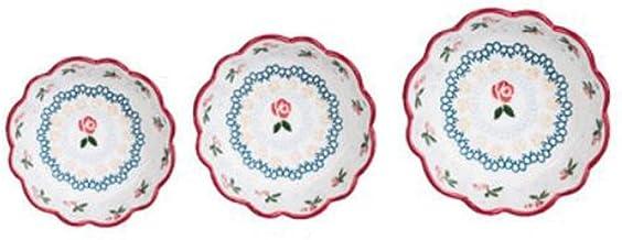 Fmdagoummzislw Salad Bowl, 3 Pieces Of Breakfast Ceramic Bowl, Fruit Salad Bowl, Restaurant Tableware, Household Rice Bow...