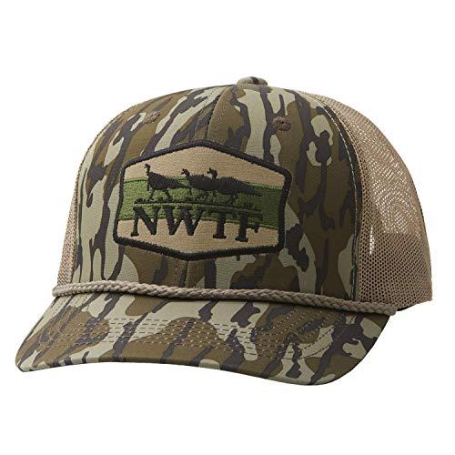 Nomad Mens Nwtf Trucker Hat | Turkey Hunting Hat, Trucker - Mossy Oak Bottomland, One Size