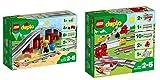 Lego Duplo 2er Set: 10872 Eisenbahnbrücke und Schienen + 10882 Eisenbahn Schienen
