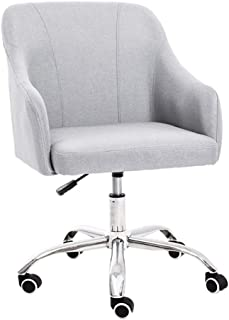 Comif- Sillón tapizado, sillas de Escritorio con Ruedas, Muebles Casuales Modernos, Respaldo ergonómico, Funda para Silla elástica, decoración del hogar (Opcional