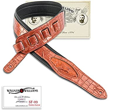 Metallic Copper Alligator Skin Guitar Strap
