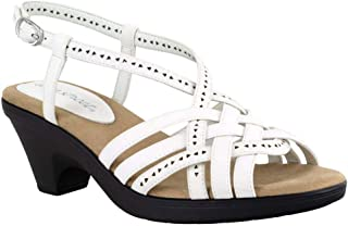 Easy Street Women Sandal,White,7 W US