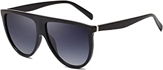 Dollger Oversized Sunglasses for Women Men Flat Top Designer Fashion Retro Sunglasses Frame Shades